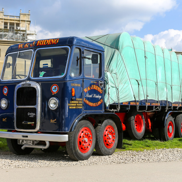 """Scammell Rigid 8 - Reg No FJH 102, built in 1939, shown here in"" stock image"