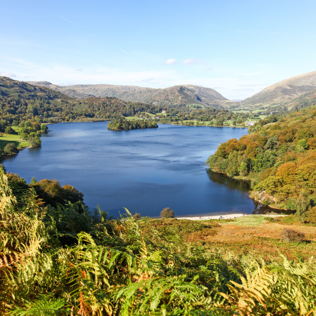 """Grasmere lake in the English Lake District National Park Cumbria"" stock image"
