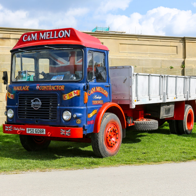 """A 1976 or 1977 Seddon 13-4 lorry, truck or commercial vehicle re"" stock image"
