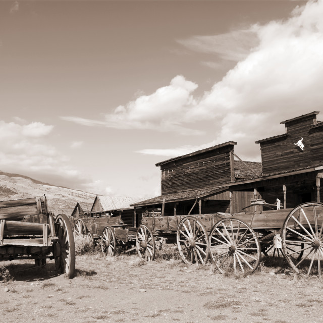 """Old Trail Town"" stock image"