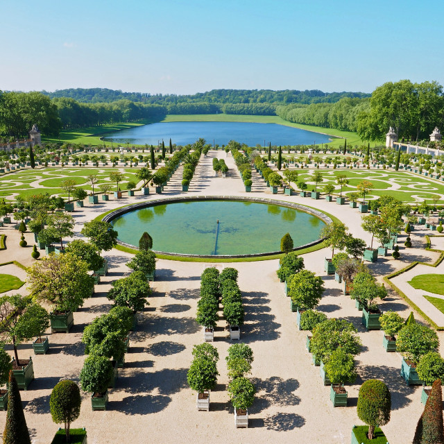 """The Orangerie at Versailles"" stock image"