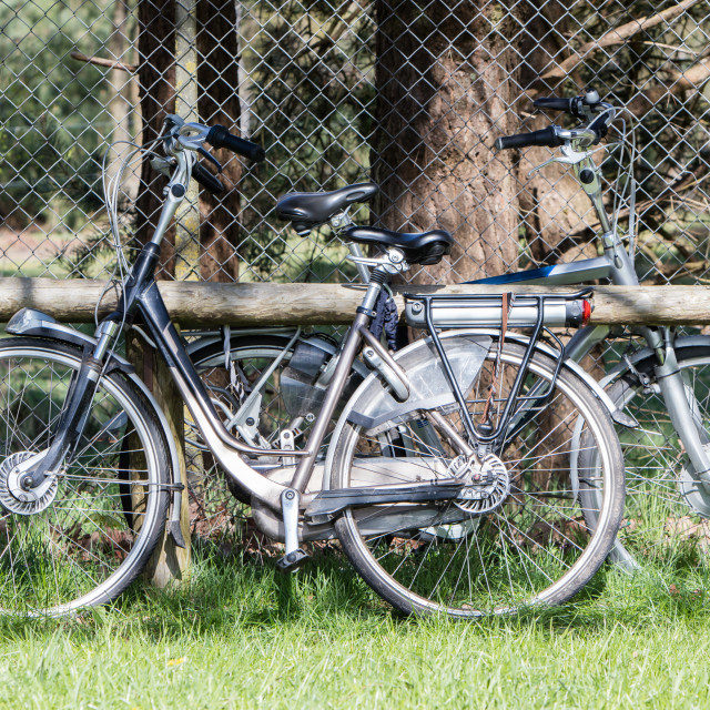 """""""Electric bicycle, modern bike mostly used by seniors"""" stock image"""