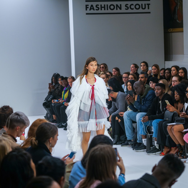 """""""FJU Talents Showcases lastest collection at FASHION SCOUT SS18 Day 3"""" stock image"""