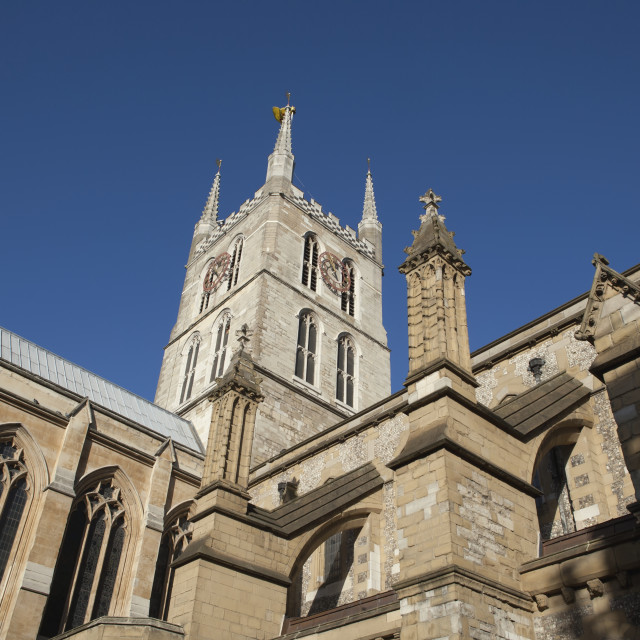 """Southward Cathedral On The South Bank Of The River Thames; London, England"" stock image"
