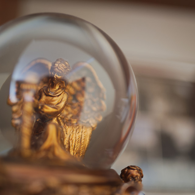 """Angel Snow Globe"" stock image"