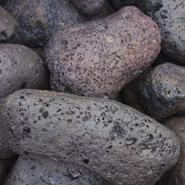 """Detail Of Weathered Volcanic Rocks, St. Paul Harbor, St. Paul Island,..."" stock image"