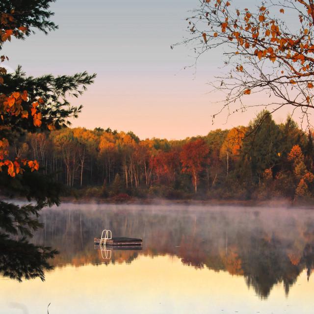 """Morning mist"" stock image"