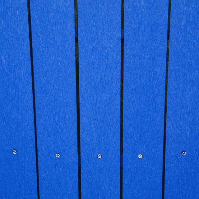 """""""Close-Up Of The Blue Planks Of Composite Materials (Plastic And Wood) In A..."""" stock image"""
