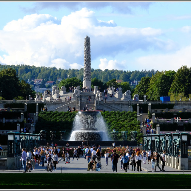 """""""Frogner Park and Vigeland Sculpture park, Oslo, Norway"""" stock image"""