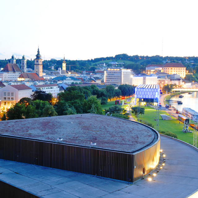 """Evening in Linz"" stock image"
