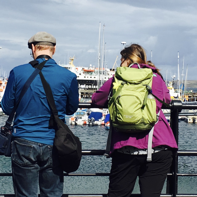 """viewing Mallaig harbour"" stock image"