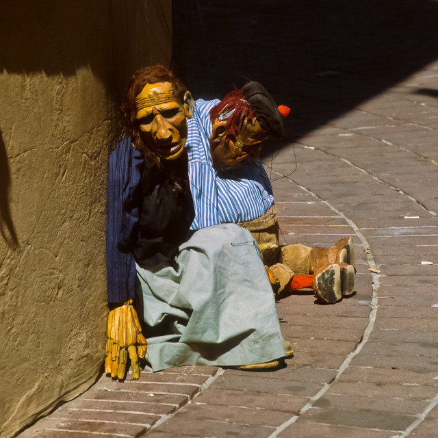 """Old Town Albuquerque puppets"" stock image"