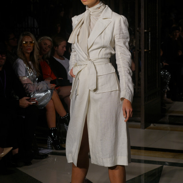 """""""Designer Hallie Sara Showcases lastest collection at FASHION SCOUT SS18 Day 3"""" stock image"""