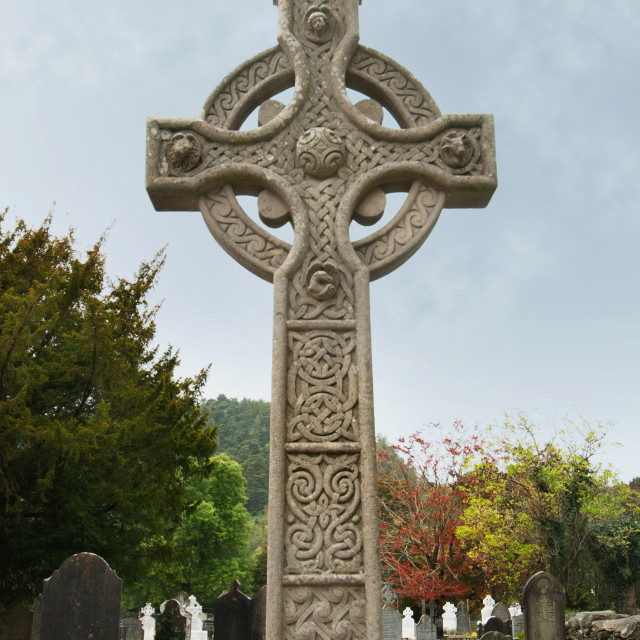 """A High Cross Tombstone; Ireland"" stock image"