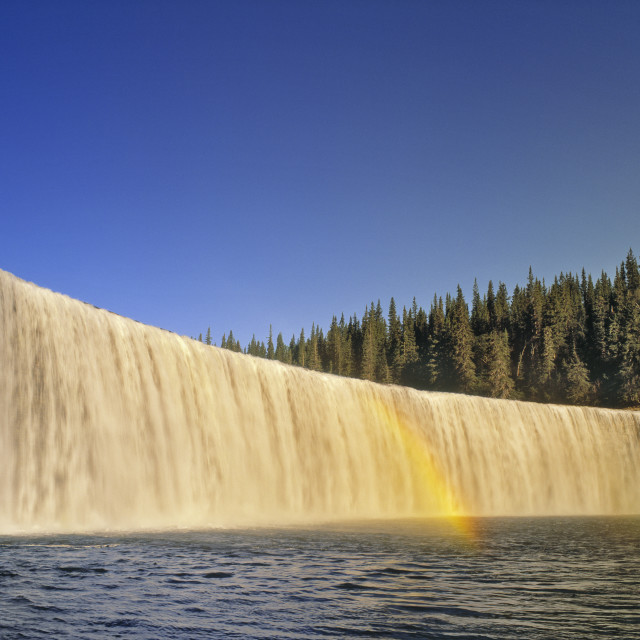 """""""Lady Evelyn Falls, Nwt, Canada"""" stock image"""