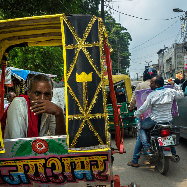 """Portrait of A Rickshaw Driver"" stock image"