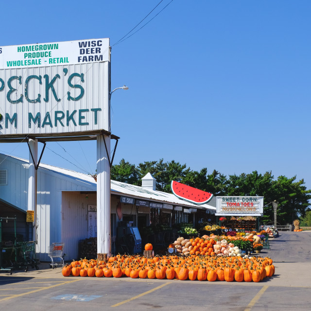 """Fresh market in Wisconsin, USA"" stock image"