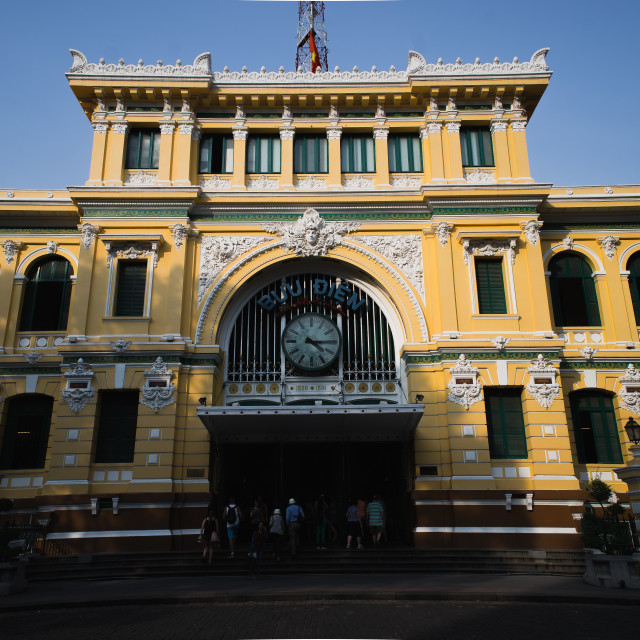"""Saigon Central Post Office"" stock image"