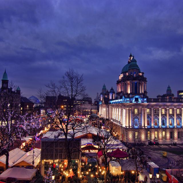 """Belfast Continental Christmas Market"" stock image"
