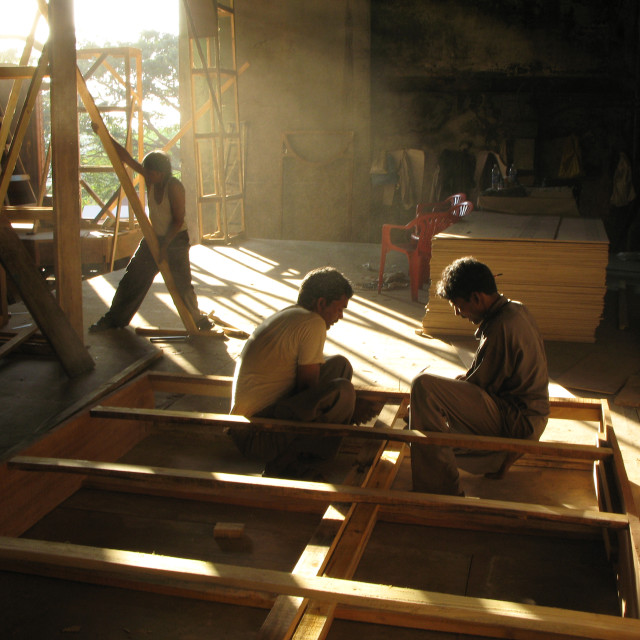 """INDIA.Building a set at Film City in Mumbai."" stock image"