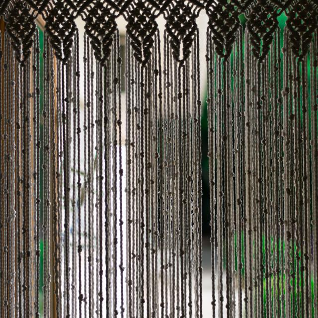 """Macrame curtain."" stock image"
