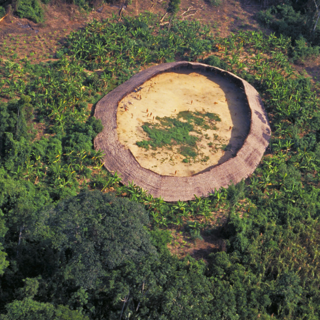 """""""Yanomami Village Seen From The Helicopter, South Of Venezuela"""" stock image"""