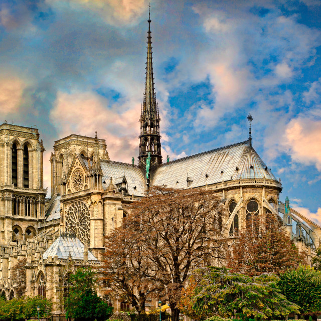 """""""Notre Dame de Paris"""" stock image"""
