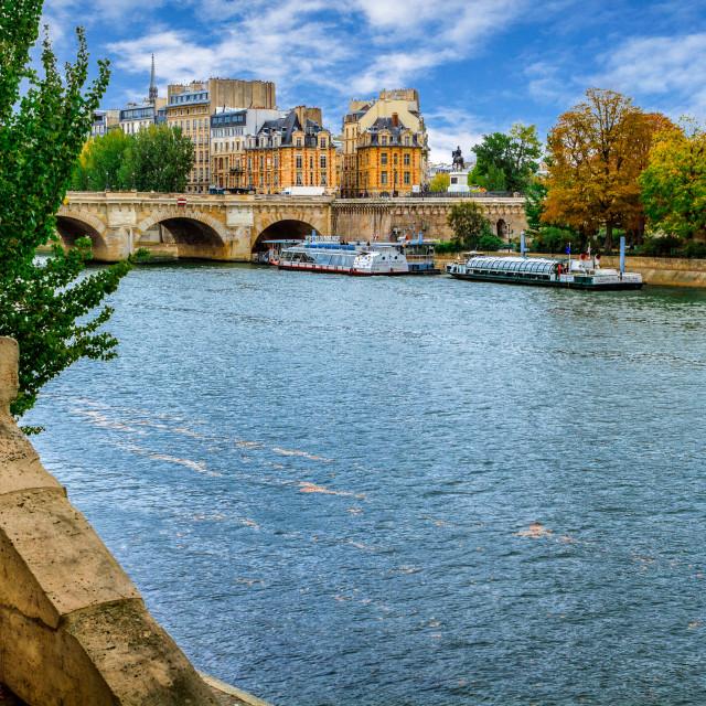 """Pont de la Concorde"" stock image"