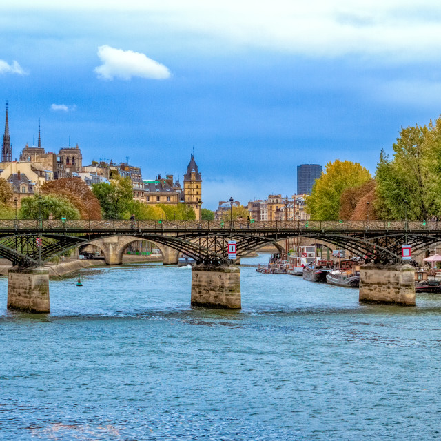 """Bridge on the Seine"" stock image"