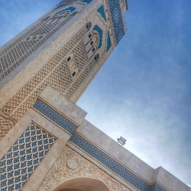 """""""Hassan II Mosque Casablanca"""" stock image"""