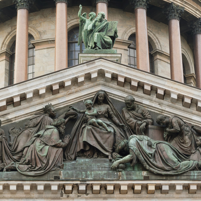 """Sculptures On Saint Isaac's Cathedral; St. Petersburg, Russia"" stock image"