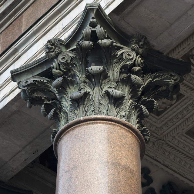 """Ornate Design At The Top Of A Column At Saint Isaac's Cathedral; St...."" stock image"
