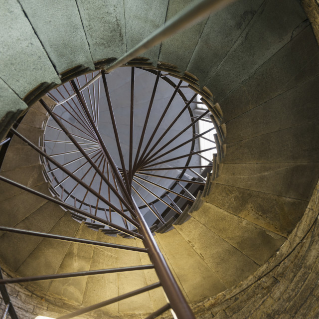 """Spiral Staircase In Saint Isaac's Cathedral; St. Petersburg, Russia"" stock image"