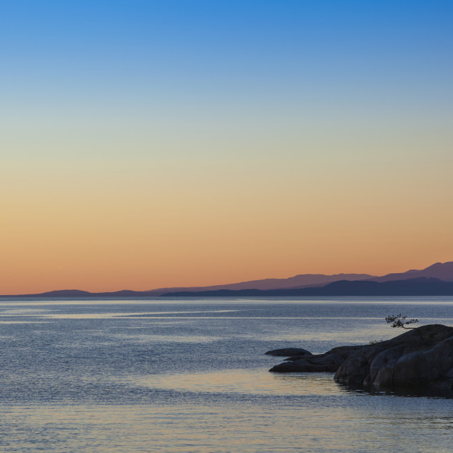 """""""Looking Out From Smuggler Cove Marine Provincial Park On The Coast; British..."""" stock image"""