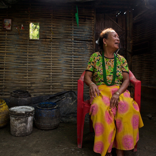 """- Beldangi II, Damak, Nepal, 2014:Ranmaya Magar of age 65 years, lives with..."" stock image"