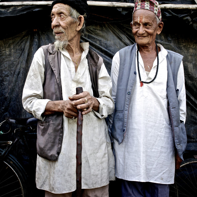 """- Beldangi II, Damak, Nepal, 2014: There are a small number of refugees, who..."" stock image"