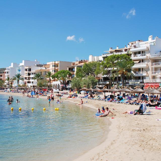 """""""Puerto Pollensa beach, Majorca"""" stock image"""