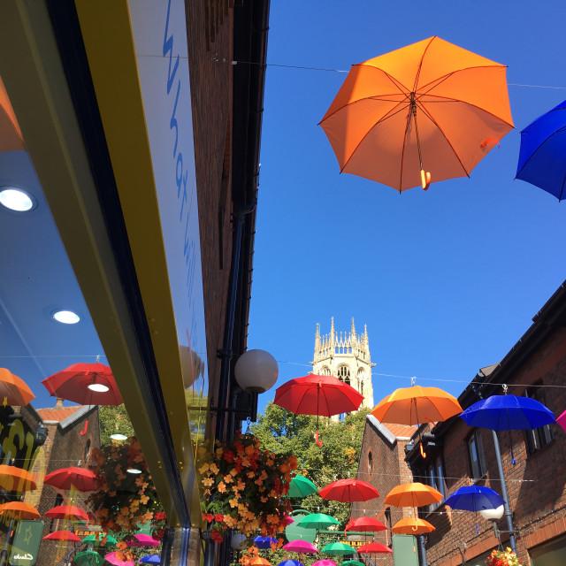 """Its raining sunshine in York"" stock image"
