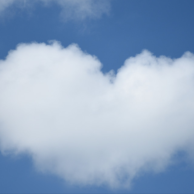 """Heart shaped cloud"" stock image"
