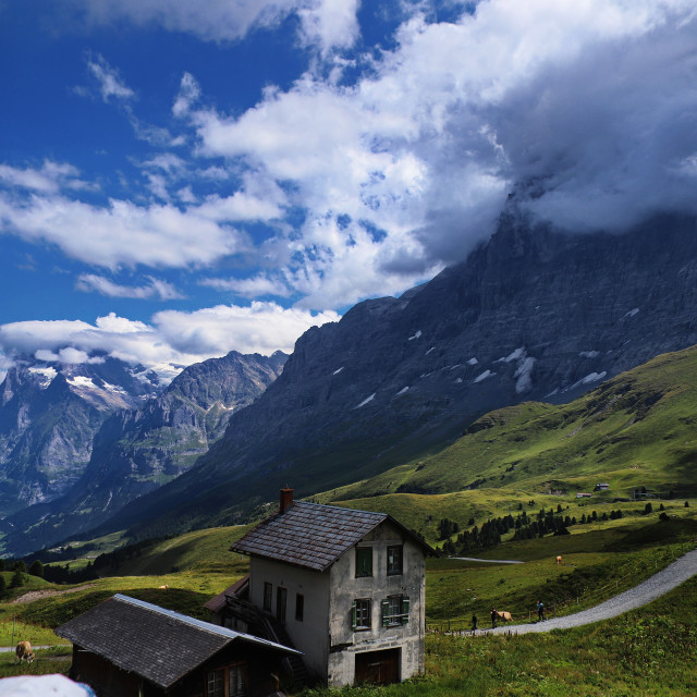 """House in the Alps,"" stock image"