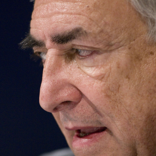 """Dominique Strauss-Kahn, the Managing Director of the International Monetary..."" stock image"