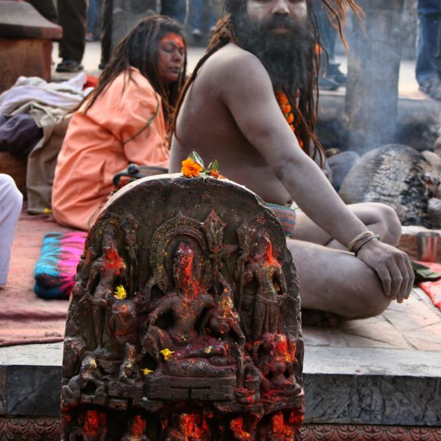 """Sadhus, Religious Festivals, Nepal."" stock image"