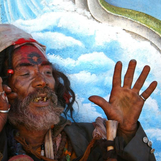 """""""Shadhu in Nepal"""" stock image"""