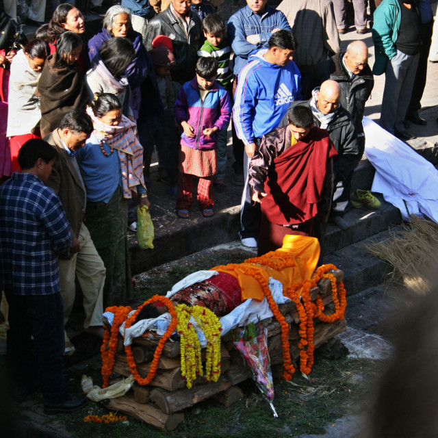 """Hindu Funeral in Nepal"" stock image"
