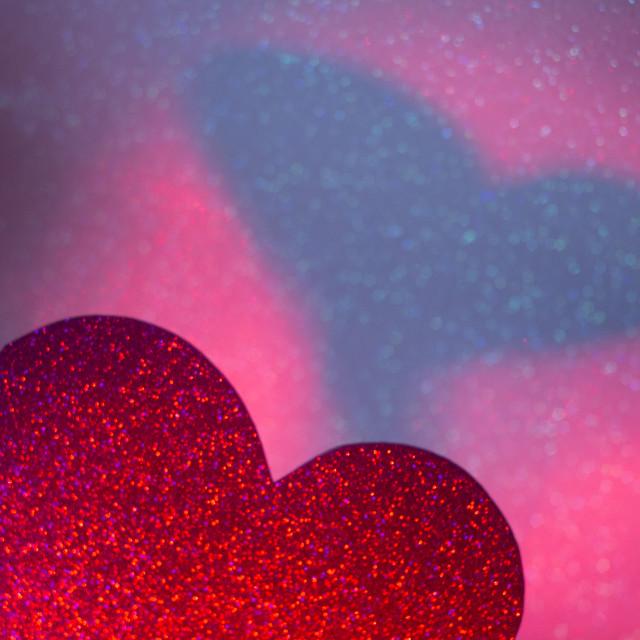 """Romantic love heart shape"" stock image"