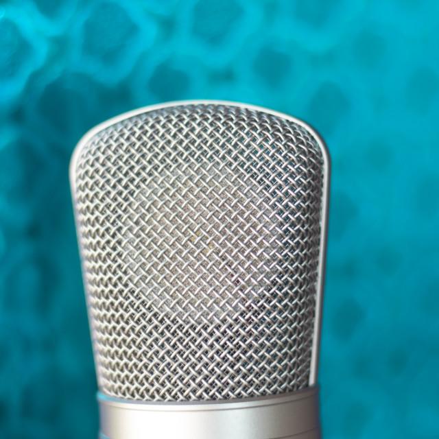 """""""Studio recording voice microphone"""" stock image"""