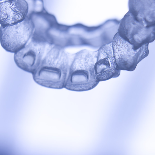 """""""Invisible teeth aligners braces"""" stock image"""