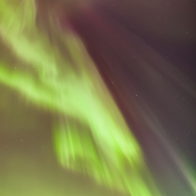 """""""A multi-coloured northern lights corona in the sky above the tony knowles..."""" stock image"""