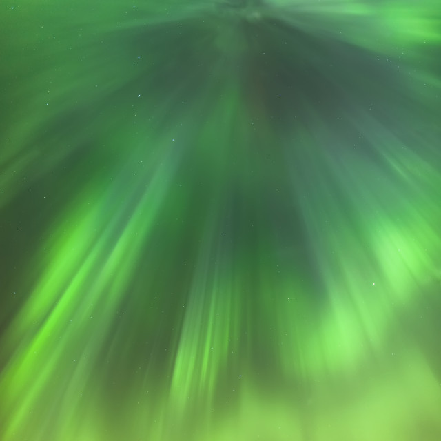 """""""The green northern lights corona in the sky above the tony knowles coastal..."""" stock image"""
