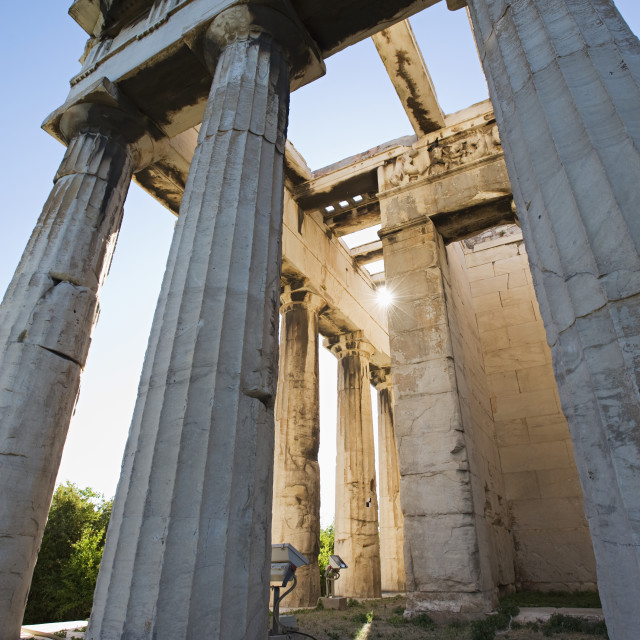 """""""Temple of hephaestus in ancient agora of athens;Athens greece"""" stock image"""